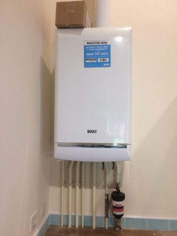 Boiler installation at new build Wyton